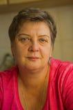 Retrato de una mujer envejecida media Fotografía de archivo libre de regalías
