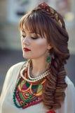 Retrato de una mujer eslava Imagen de archivo libre de regalías