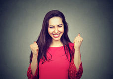 Retrato de una mujer feliz fotografía de archivo libre de regalías