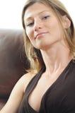 Retrato de una mujer hermosa Foto de archivo libre de regalías