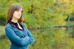 Retrato de una mujer joven Imagen de archivo