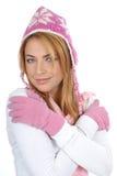 Retrato de una mujer joven en la ropa del invierno imagen de archivo libre de regalías