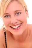 Retrato de una mujer joven feliz Imágenes de archivo libres de regalías