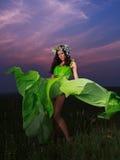 Retrato de una mujer joven hermosa al aire libre Foto de archivo
