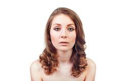 Retrato de una mujer joven hermosa con maquillaje de la tarde Foto de archivo
