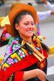 Retrato de una mujer joven que se realiza durante el festival del Virg Fotografía de archivo