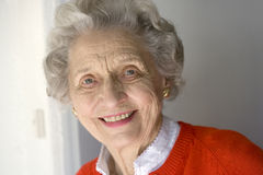 Retrato de una mujer mayor Imagenes de archivo