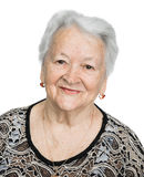 Retrato de una mujer mayor sonriente hermosa Fotos de archivo