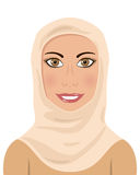 Mujer musulmán que lleva un Hijab Fotos de archivo libres de regalías