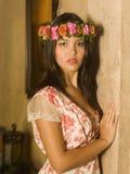 Retrato de una mujer polinesia joven Imagen de archivo