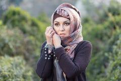 Retrato de una mujer árabe Imágenes de archivo libres de regalías