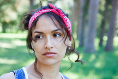 Retrato de una mujer triste Foto de archivo