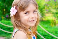 Retrato de una niña de la belleza Fotografía de archivo
