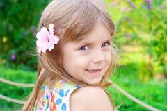 Retrato de una niña de la belleza Imagenes de archivo