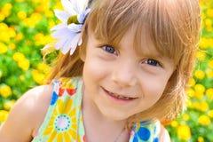 Retrato de una niña de la belleza Foto de archivo libre de regalías
