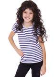 Retrato de una niña encantadora que sonríe en la cámara Imagen de archivo libre de regalías
