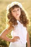 Retrato de una niña hermosa fotografía de archivo libre de regalías
