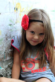 Retrato de una niña linda de la manera Fotografía de archivo libre de regalías