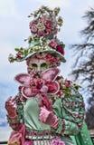 Retrato de una persona disfrazada Fotos de archivo libres de regalías