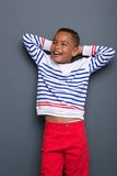 Retrato de una risa del niño pequeño Foto de archivo libre de regalías