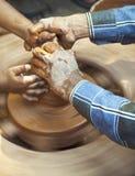 Retrato de una rueda de alfareros Imagenes de archivo