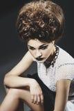 Retrato de una señora hermosa Fotografía de archivo libre de regalías