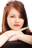 Retrato de una señora joven fotografía de archivo libre de regalías