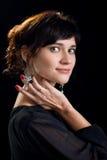 retrato de una señora joven hermosa Fotografía de archivo libre de regalías