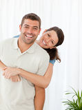 Retrato de una situación feliz de los pares Foto de archivo libre de regalías