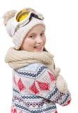 Retrato de una snowboard feliz de la chica joven Foto de archivo libre de regalías