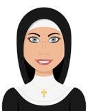 Mujer del cristiano de la hermana de la monja Imagenes de archivo