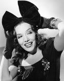Retrato de una sonrisa de la mujer joven (todas las personas representadas no son vivas más largo y ningún estado existe Garantía Fotos de archivo libres de regalías