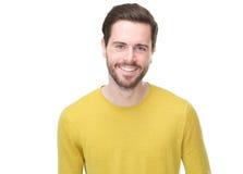 Retrato de una sonrisa hermosa del hombre joven Imagen de archivo libre de regalías