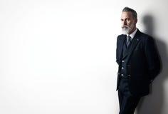 Retrato de vestir farpado do homem de negócios na moda imagem de stock royalty free