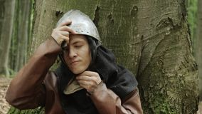 Retrato de Viking Warrior masculino medieval metrajes