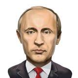 Retrato de Vladimir Putin, presidente de la Federación Rusa stock de ilustración