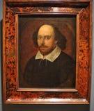 Retrato de William Shakespeare, associado com John Taylor fotos de stock royalty free