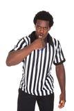 Retrato del árbitro africano Foto de archivo libre de regalías