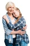 Retrato del abarcamiento de la abuela y de la nieta Fotografía de archivo