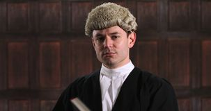 Retrato del abogado de sexo masculino almacen de metraje de vídeo