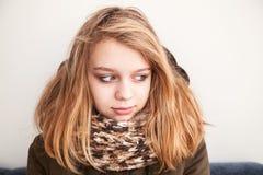 Retrato del adolescente caucásico rubio hermoso Fotos de archivo libres de regalías