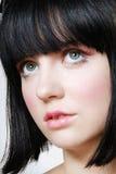 Retrato del adolescente con maquillaje de la muñeca. Foto de archivo libre de regalías