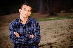 Retrato del adolescente del African-American Imagen de archivo libre de regalías