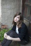 Retrato del adolescente deprimido Imágenes de archivo libres de regalías