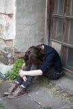 Retrato del adolescente deprimido Fotografía de archivo