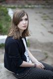 Retrato del adolescente deprimido Foto de archivo