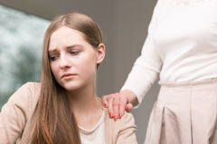 Retrato del adolescente deprimido con problemas Imagen de archivo