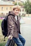 Retrato del adolescente en chaqueta Imagenes de archivo
