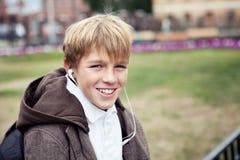 Retrato del adolescente en chaqueta Fotos de archivo