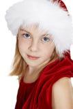 Retrato del adolescente en el casquillo del Año Nuevo Fotos de archivo